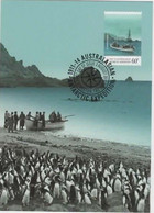 Australian Antarctic Territory  Antarctic Expedition Departure And Journey ,landing At Caroline Cover - Tarjetas – Máxima