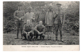 CPA E.Le Deley Phot Lenormand Armée Indo-Anglaise Soldats Anglais, Français Et Indiens Recto-verso 4/11/1914 - Personaggi