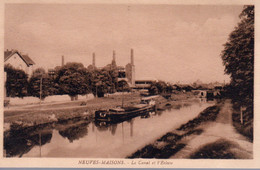 NEUVES MAISONS  -  Le Canal Et L' Ecluse  -  Péniche - Neuves Maisons