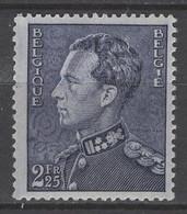 529a LEOPOLD III 2FR25 POORTMAN Grijsviolet Op Wit Papier  POSTFRIS** 1940 - 1936-1951 Poortman