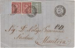 1866 Piego Datato 19 Set 1866 Da Castiglione Delle Stiviere (Italia) In PD Per Mantova (ancora Austriaca), Un Francoboll - Marcofilía