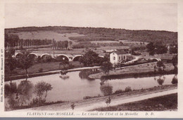 FLAVIGNY SUR MOSELLE  -  Le Canal De L' Est Et La Moselle  -  Ecluse Avec Péniche - Other Municipalities