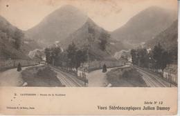 64 - CAUTERETS -  Route De La Raillière - Vues Stéréoscopiques Julien Damoy - Cartoline Stereoscopiche