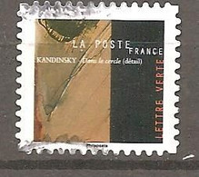 FRANCE 2021 Y T N ° 1??? Oblitéré CACHET ROND KANDINSKY - Gebruikt