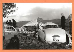 PHOTO RETIRAGE DE L'ANNÉE 1961 TOURY RN 20 - ACCIDENT DE VOITURE ALFA ROMÉO TYPE 1900 - Auto's
