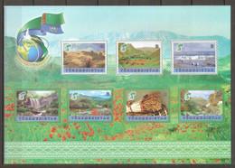 2020 Turkmenistan. 25 Years Of Neutrality. Types Of Nature. MS  (*) - Turkmenistan