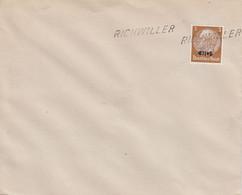 Env Affr Michel Elsass 1 Obl RICHWILLER - Alsace Lorraine