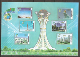 2020 Turkmenistan. 25 Years Of Neutrality. Architecture. . MS  (*) - Turkmenistan