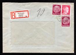 DR R-Brief ETTLINGEN (BADEN) - 24.7.42 - Mi.520,788 - Covers & Documents