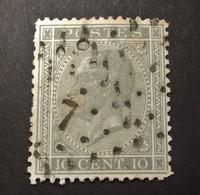 Belgie - Belgique 1865 - 1866 - N°17  -  10c  - Obl. 7  -  Anderlecht  - Profiel Links - 1865-1866 Profilo Sinistro