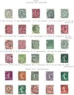 Frankreich Paris Cachets Des Imprimes E Paris R.P. Periodiques Auf Albumblatt - 1877-1920: Semi Modern Period
