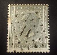Belgie - Belgique 1865 - 1866 - N°17 -  10c  - Obl.-  11  -  Antoing  - Profiel Links - 1865-1866 Profilo Sinistro