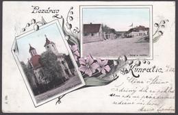 Czech Republic -  KUNRATICE (Prague) - Pozdrac Kunratice , Kostel Jakuba, Ke Mlýnu - 1902 - Repubblica Ceca