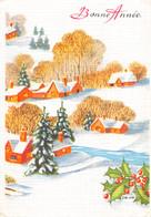 Bonne Année (Voeux) - Neige - Paysage - Neujahr