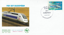 FDC 2007 TGV EST EUROPEEN - REMIREMONT - 1980-1989