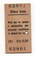 Ticket De Tramway Ou Métro N°62801 Scitasi Listek - Format : 5.5x3 Cm - World