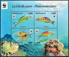 MONACO - ANNEE 2016 - POISSONS - NEUF** - Unused Stamps