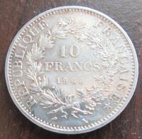 France - Monnaie 10 Francs Hercule 1966 - SUP - K. 10 Francs
