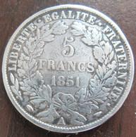 France - Monnaie 5 Francs Cérès 1851 A - TB+ - J. 5 Francs