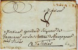 France,  De LESPARRE ( Medoc ) En 1774  Taxe 8 Pour Thiviers  RR - 1701-1800: Precursori XVIII