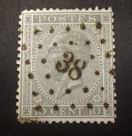 Belgie - Belgique 1865 - 1866 - N°17 -  10c  - Obl. - Bureau  38 -  Beveren - 1865-1866 Profilo Sinistro