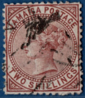 Jamaica 1870 2 Shilling Red-brown 2105.2514 - Jamaica (1962-...)