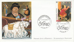FDC 2002 PEINTURE DE BOTERO - 2000-2009