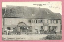 67 - GRUSS Aus DOMFESSEL - Gastwirtschaft Zum Bahnhof - Jacog HERZOG - Attelage - Other Municipalities