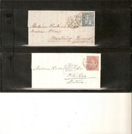 SUISSE. 2 Lettres De LAUSANNE . Une De 1862 Pour VERNEX Timbre 36 . Autre De 1872 Pour MONTREUX Timbre 43 - Covers & Documents