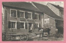 67 - SOUVENIR De GUNGWILLER - Epicerie Charles KLEIN - Plaque Emaillé - Cheval - Charrue - Other Municipalities
