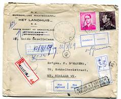 1969 R-enveloppe HET LANDHUIS Sint Niklaas - Zie Diverse Stickers Onbekend - Niet Afgehaald - Afwezig - Retour - En Ande - Cartas