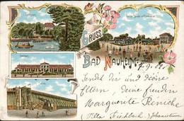 Litho Gruss Aus Bad Nauheim Saline Teichhaus 1902 Hf17 - Unclassified