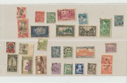 TIMBRES DIVERS  PERFORES De TUNISIE - ALGERIE - MAROC - INDOCHINE  -    Recto Verso - Non Classés