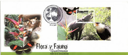 GUATEMALA 2005 BLOCK FDC UPAEP FLORA AND FAUNA FARFALLE BUTTERFLIES SCHMETTERLINGE - Schmetterlinge