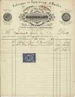 CHATEAURENARD, 45 - Facture 1878 - Epuration D'Huiles, Filature De Laines BOUGUEREAU-LATTE - 1800 – 1899