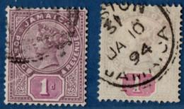 Jamaica 1894 1d 2 Shades 2105.2524 - Jamaica (1962-...)