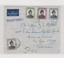 BRUNEI 1960 Registered Airmail Cover To IRAN - Unclassified