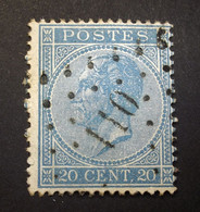 Belgie - Belgique 1865 - 1866 - N° 18 - 20c  - Obl. - Bureau  110 - Enghien - 1865-1866 Profilo Sinistro
