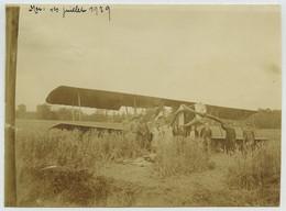(Aviation) Avion Ayant Atterri Dans Un Champ à Mer (Loir-et-Cher). 1er Juillet 1929. - Aviación