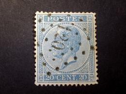Belgie - Belgique 1865 - 1866 - N° 18 - 20c  - Obl. - Bureau  120 - Esemael - 1865-1866 Profil Gauche