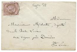 N° 58 CERES SUR LETTRE / TENCE POUR VIGNES PRES DUNIERES / 1875 - 1849-1876: Klassik