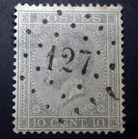 Belgie - Belgique 1865 - 1866 - N° 17 - 10c  - Obl. - Bureau  127  - Fléron - 1865-1866 Profilo Sinistro