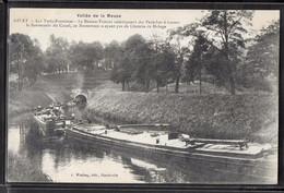 CPA 08 - Givet, Les Trois-Fontaines - Le Bateau-Toueur Remorquant Des Péniches à Travers Le Souterrain Du Canal - Givet