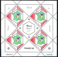 Monaco N°2163, Coupe Du Monde De Football 1998, France-Brésil 3-0, Neufs ** - Ungebraucht