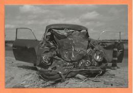 PHOTO RETIRAGE DE L'ANNÉE 1963 COURVILLE RN 20 - ACCIDENT DE VOITURE PORSCHE - Auto's