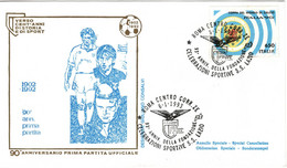 ITALIA 1993 93° ANNIVERSARIO FONDAZIONE S.S. LAZIO FOOTBALL CALCIO BUSTA E ANNULLO SPECIALI - Famous Clubs