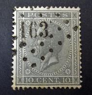 Belgie - Belgique 1865 - 1866 - N° 17 - 10c  - Obl. - Bureau  163  - Hal - 1865-1866 Profilo Sinistro