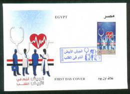 EGYPT / 2020 / MEDICAL STAFF FIGHTING CORONA VIRUS IN OUR HEARTS / MEDICINE / COVID 19 / STETHOSCOPE / ATOM /RED CROSS - Covers & Documents