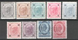 Austria 1890 Unif.46/51,56/58 */MLH VF/F - Nuevos