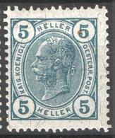 Austria 1905 Unif.84/I */MH VF/F - Nuevos